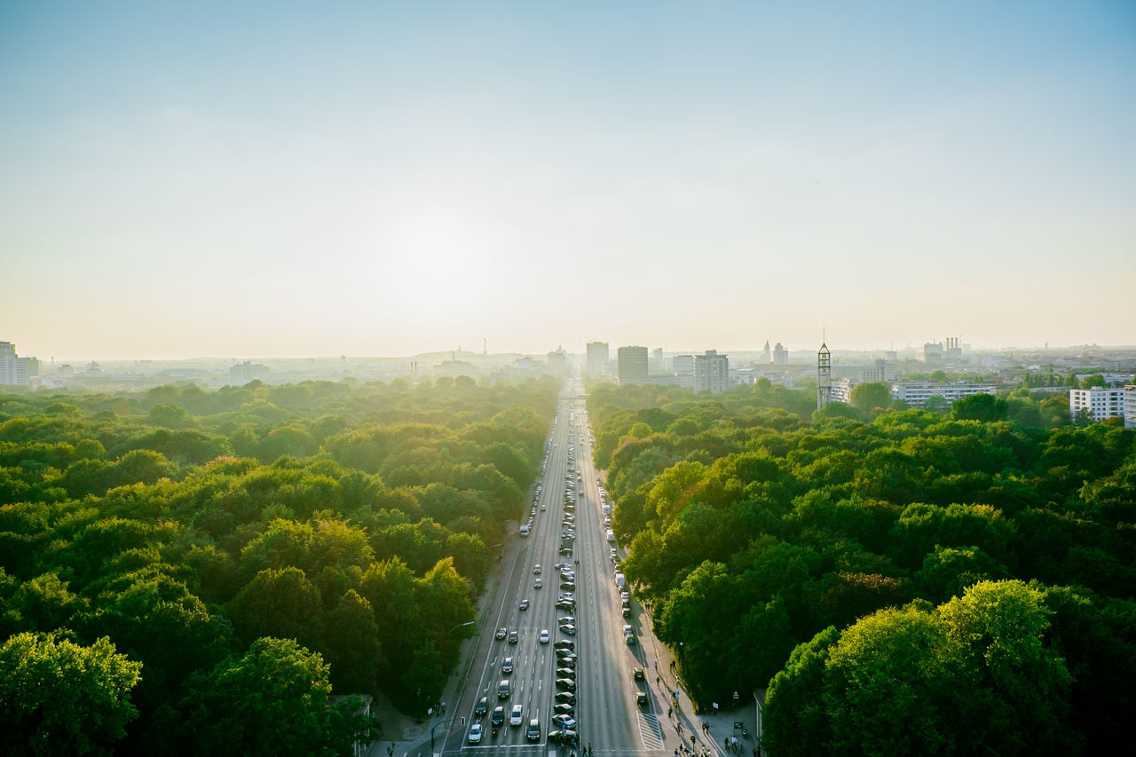 Beautiful stock photos of car, Aerial View, Beauty In Nature, Berlin, Clear Sky