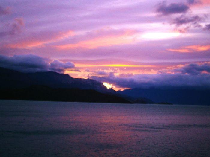 Amanecer en Lago General Carrera, Puerto Río Tranquilo. Carretera Austral Relaxing Chile Camping Mochilero Patagonia Chilena Sur De Chile Aventura