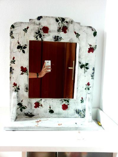 Artsy Retrolux Negative Space Mirror Roses My Arm:)