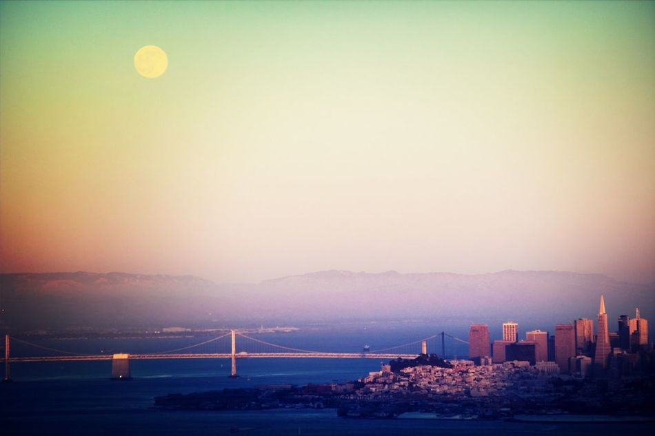 Super Moon Over SF