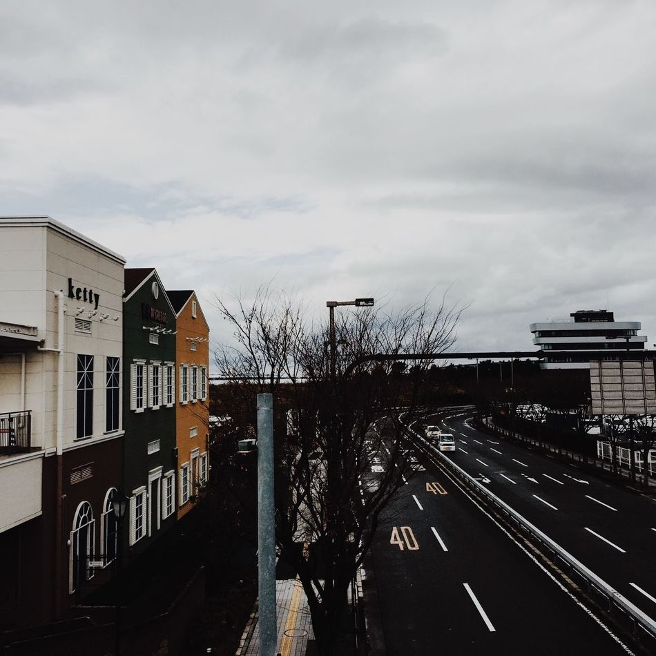 Architecture Building Exterior Built Structure Sky Cloud - Sky Outdoors No People Transportation Road City Bare Tree Day Tree Japan Japan Photography