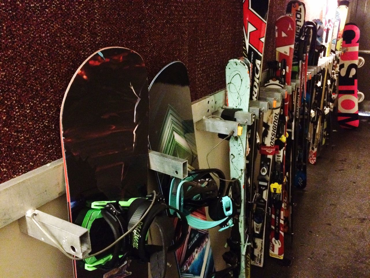 Snowboards and skis! Large Group Of Objects No People Variation Indoors  Day Snowboard
