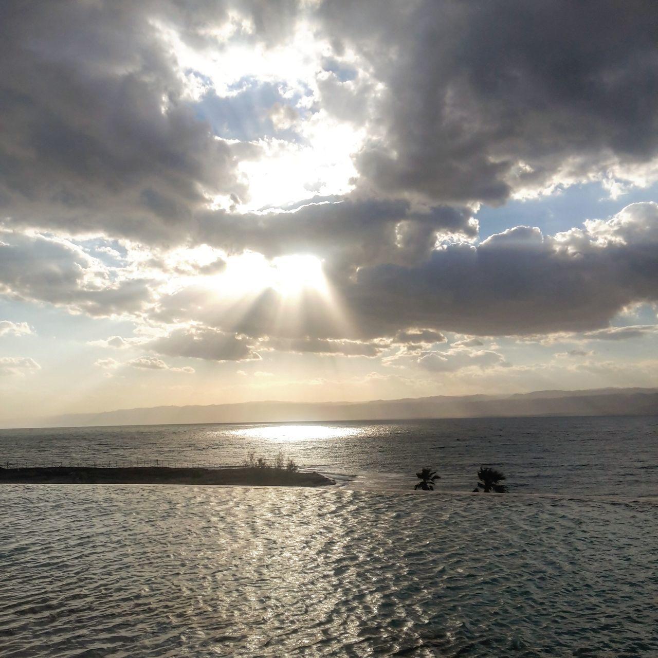 Deadsea Jordan Sea Cloud - Sky Nature Sun