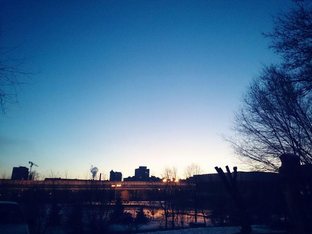 Twilight Sky Sunset Sky Sky And City