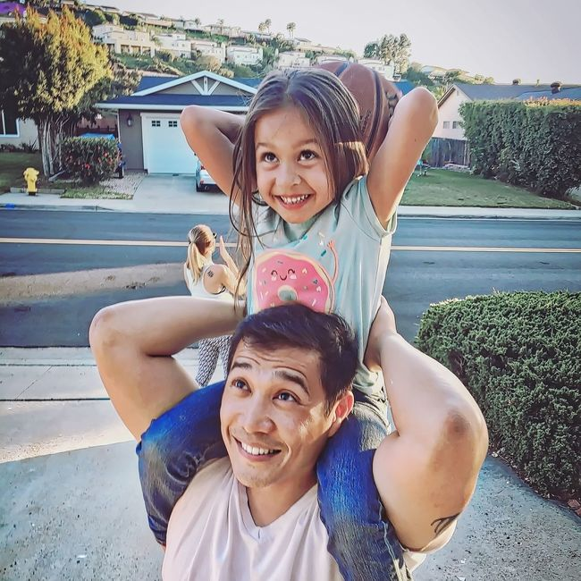 Fatherhood Moments Leisure Activity Smiling Childhood Happiness Togetherness Girls Enjoyment Fatherhood  Daughter Daddy's Girl Dad & Daughter Dad And Daughter Basketball Play Playing Cute So Cute Precious Priceless Sweet