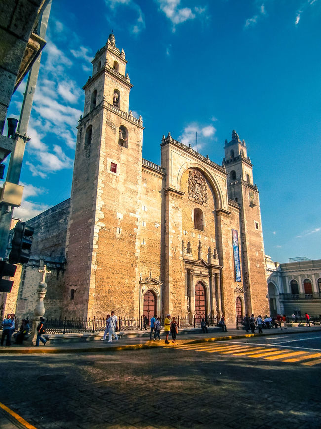 Cathedral of San Gervasio Arch Architecture Building Exterior Built Structure Cathedral Church Day Façade History Old Church Place Of Worship Religion San Gervasio Street Valladolid Yucatan Mexico Yucatan Peninsula Yúcatan