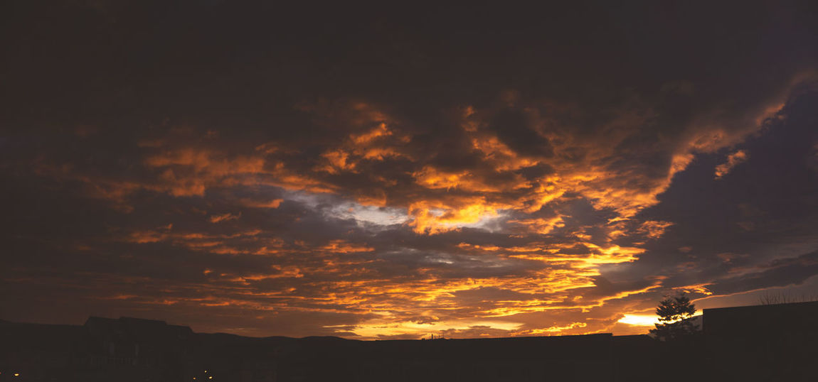 Beautiful Sky Beauty In Nature Cloud - Sky Day Low Angle View Nature No People Outdoors Scenics Silhouette Sky Sunrise Sunset