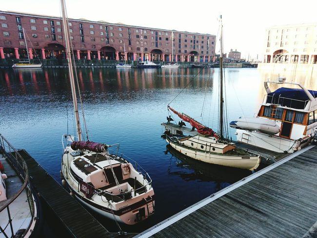 Nautical Vessel Moored Transportation Water Travel Mode Of Transport Harbor Sky Nature Liverpool, England Liverpool Waterfront Liverpool Architecture Built Structure City Albert Docks Albert Dock Seabirds