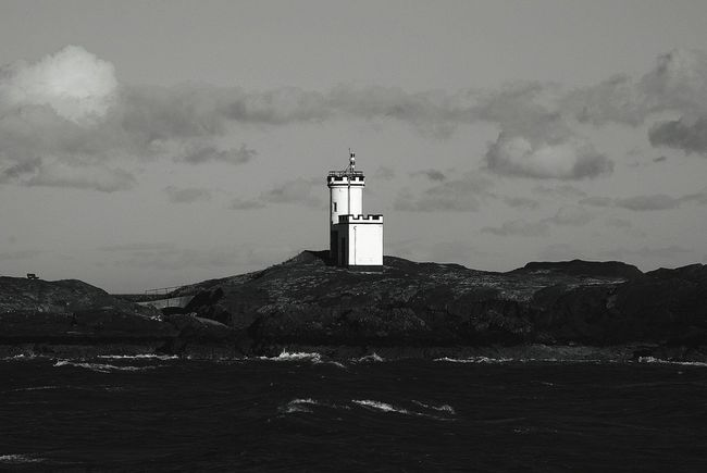 Elie has some stunning views! Lighthouse Blackandwhite Photography Sea Darkparadise Travel Scotland