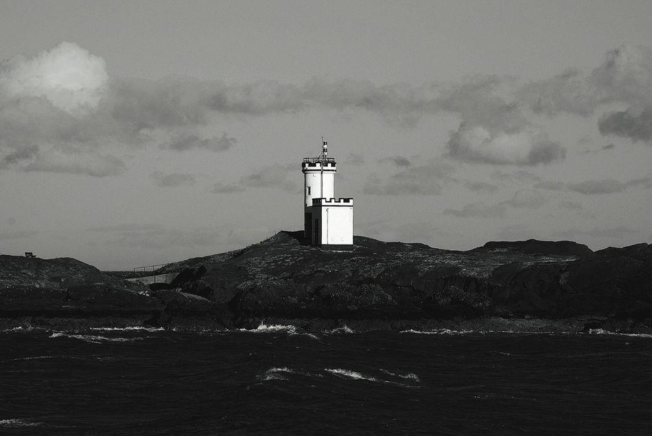Elie has some stunning views! Lighthouse Blackandwhite Photography Sea Darkparadise Travel Scotland