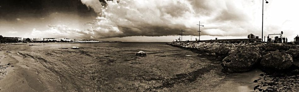 Being A Beach Bum Panorama Sea EyeEm Best Shots Landscape Seaside Beach Eye4photography  Sky Black And White