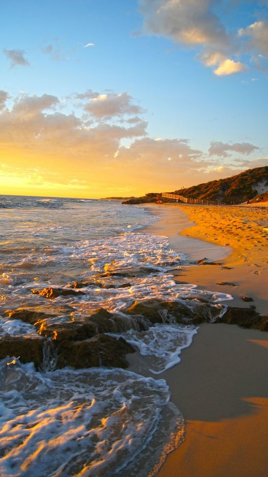 Summer Seaside Fireysky Sunset Beach Rocks Australia Western Australia WA Nature_collection Nature Photography Beach Photography Beach Lover Skyporn Perth Burns Beach Showcase: February The KIOMI Collection