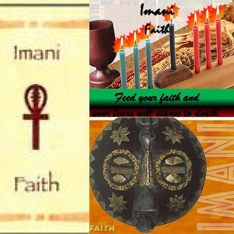 """The 7th and final Principle of Kwanzaa is Imani, meaning Faith. For the last day of Kwanzaa we are inspired """"To believe with all our heart in our people, our parents, our teachers, our leaders and the righteousness and victory of our struggle."""" Imani  Faith HappyKwanzaa CelebrateKwanzaa"""