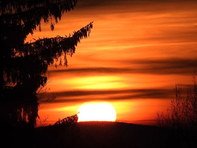 Sunset Sunset Zapadslunce Sky Slovakia Beauty In Nature Neture Nature