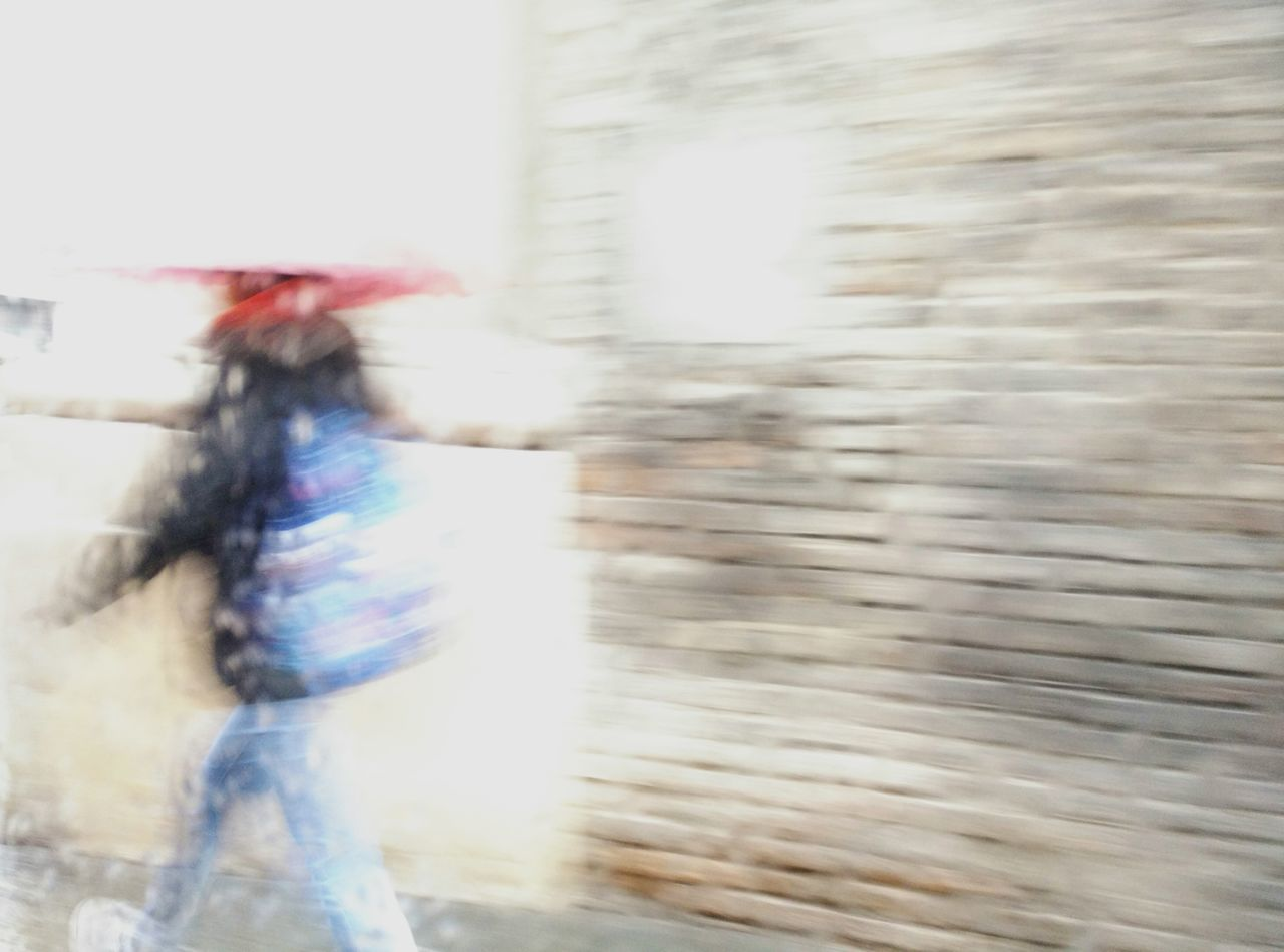 Urban 4 Filter Rain Umbrella Going To School Colors Wall