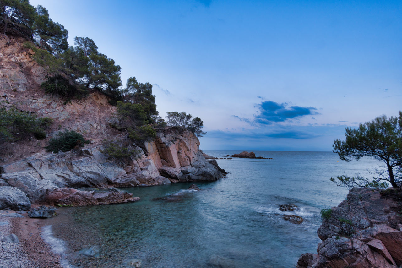 Beauty In Nature Blue Cliff Day Long Exposure Nature No People Outdoors Rock - Object Scenery Scenics Sea Sky Tranquil Scene Tranquility Tree Walimex 12mm Water