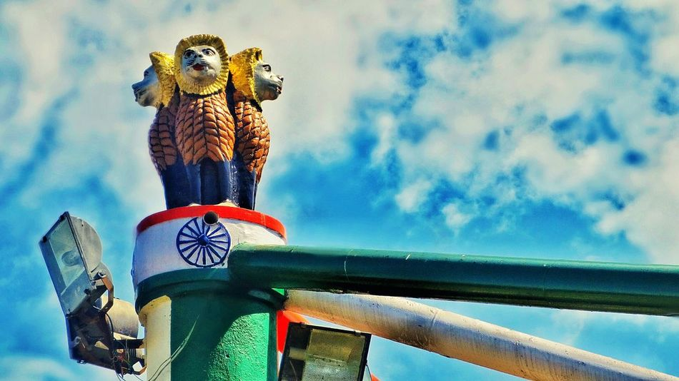 Indian emblem .. _/\_ Indian Culture  Emblem  College Campus Clouds And Sky Pillars Tricolor My Life Digicam Tadaa Community Tamilnadu
