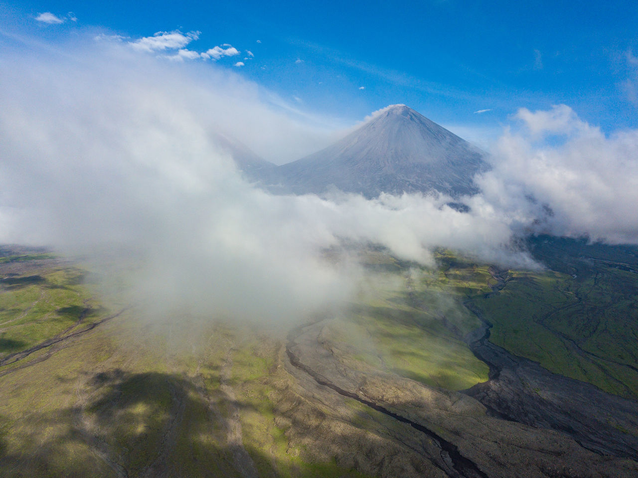 Exploring Volcanoes of Kamchatka Aerial Shot Expedition Exploring Kamchatka krai Nature Power Science Travel Volcanoes active volcano adventure aerial aerial view danger kamchatka landscape lava mavic pro mountain outdoors power in nature volcano