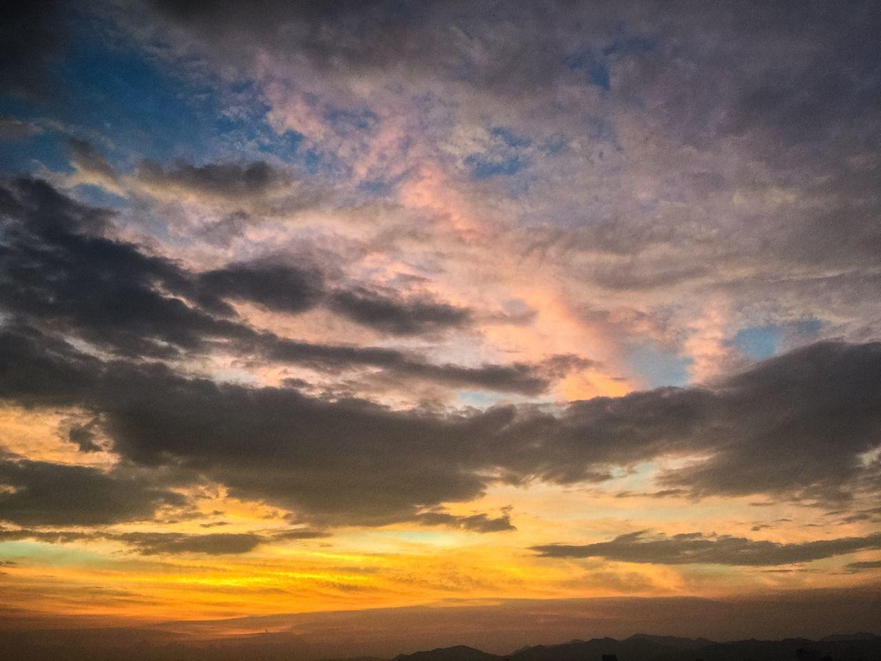 Sunset Scenics Beauty In Nature Tranquil Scene Tranquility Sky Majestic Cloudscape Dramatic Sky Nature Cloud - Sky Cloud Atmospheric Mood Atmosphere Orange Color Outdoors Moody Sky Multi Colored Calm Non-urban Scene China Zhuhai