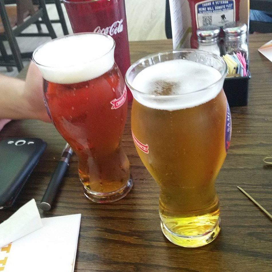 Having a Samueladams and Landshark in the airport heading home. So sad to be heading home