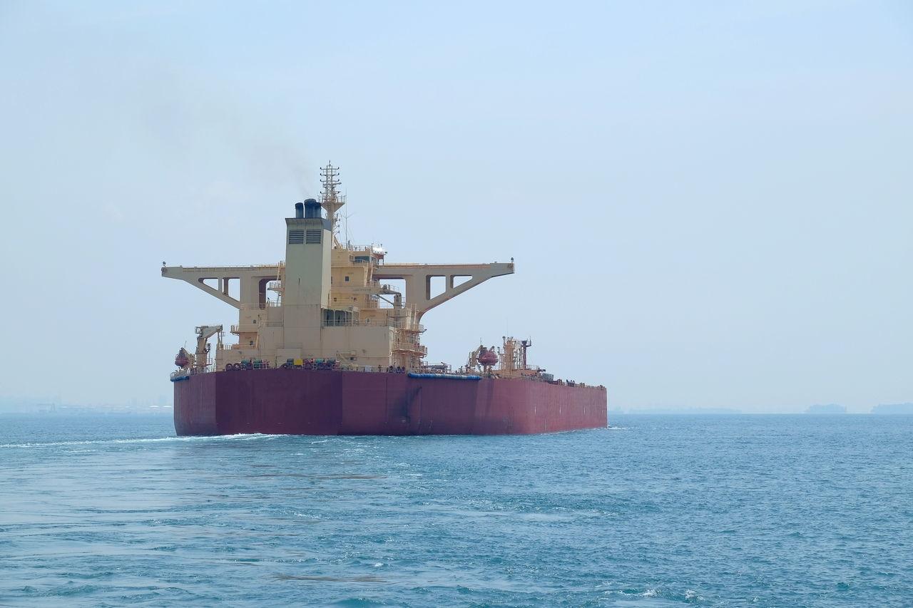 A tanker passing at singapore straits Malacca Straits Ocean Sailing Ships Singapore Straits Tanker Vessel Worldwide