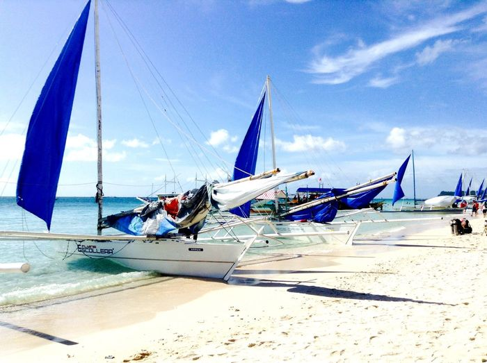 Beach Photography Beauty In Nature Thephilippines Sea Sky And Clouds BoracayIsland