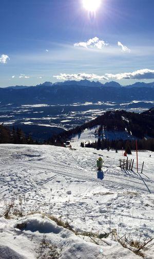 Snow Winter Sun View Mountains Snowboarding Relaxing Escaping Fun Beautiful