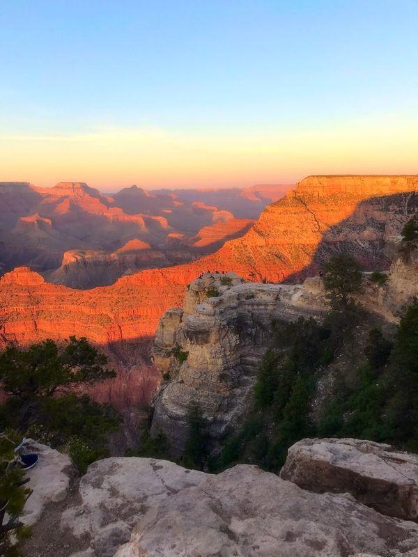 Grandcanyon Vacation Outdoors Arizona Landscape Grandcanyonnationalpark Grand Canyon Sunset Beauty In Nature Tranquility