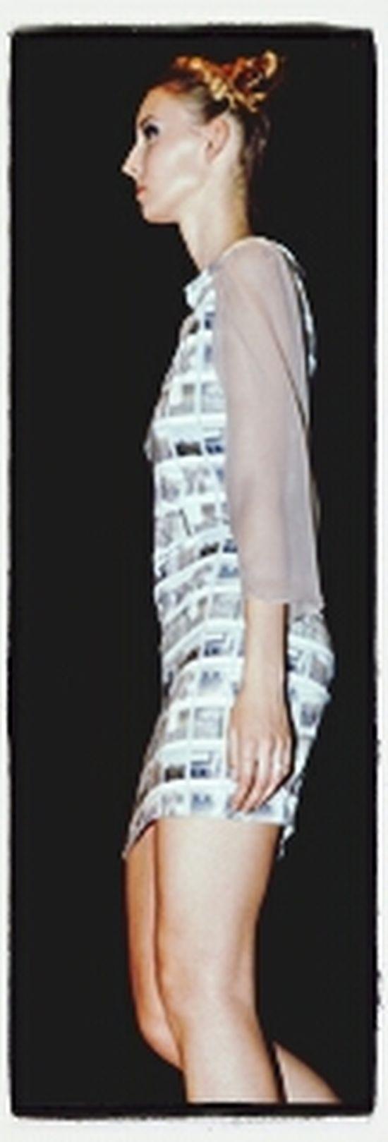 Polaroid dress Fashion Degree Show Inspiredbyhockney Designedbyme #handmade #designedmyownfabric