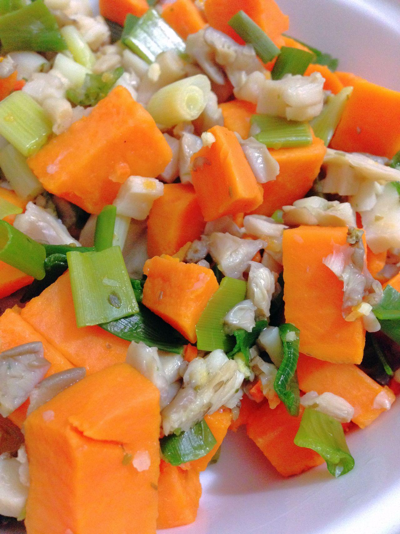 Sweet Potatoes Green Onion Oyster Mushrooms Vegetables Vegetarian Food Vegan Food 365 Photos In 2015 Healthy Food Closeup