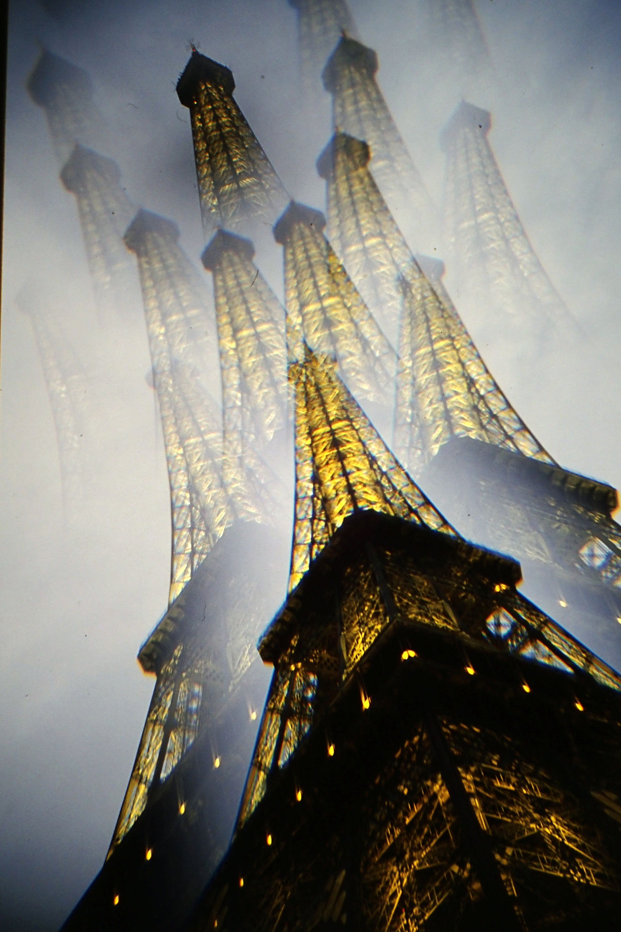 Architecture Built Structure City Eiffel Tower France Low Angle View No People Outdoors Paris Special Effects Travel Destinations
