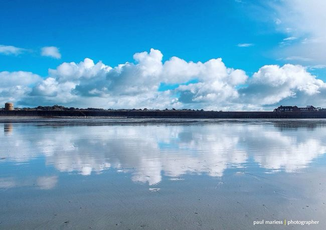 EyeEm Best Shots - Landscape Guernsey Eye4photography  EyeEm Best Shots Clouds And Sky Coastline EyeEm Nature Lover Landscape_Collection Reflection Reflections Symmetry Blue Wave
