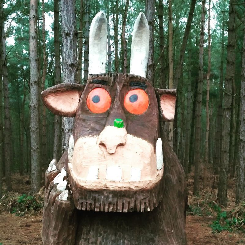 Gruffalo Gruffalo Hunt No People Tree Outdoors Day Close-up Nature Woodern Carving Carvings Carving In Wood Carvingphotograpy