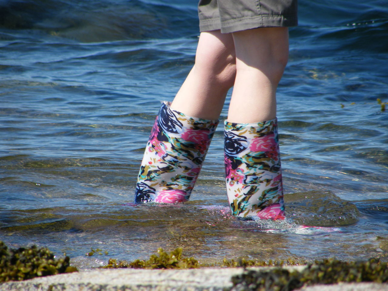 Adult Adults Only Close-up Day Human Body Part Human Leg Leisure Activity Lifestyles Low Section Nature One Person One Woman Only Only Women Outdoors Paddling People Real People Sea Shore Standing Water Wellies  Wellington Boots Women