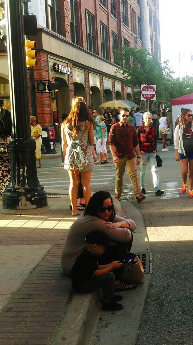 Breathe : City Life Streetartfestival Street Art Candid People Watching Peoplephotography