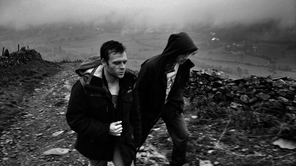 Two People Only Men Portrait Adult Men Outdoors People Young Adult Day Lake District Walking Uphill Wet Day Troutbeck Park