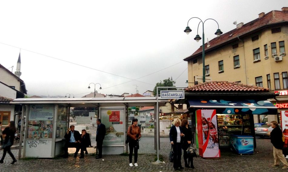 Baščaršija. Architecture Bascarsija Bascarsija Square Building Built Structure Casual Clothing City City Life Day Feel The Journey Leisure Activity Lifestyles Market Medium Group Of People Mixed Age Range Mobilephotography Outdoors Sky Summer Tram Station  People From My Point Of View Capital Cities
