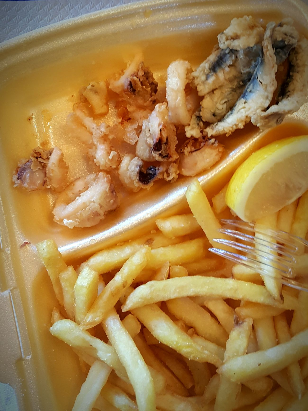 Friday: fried fish. Show Us Your Takeaway!