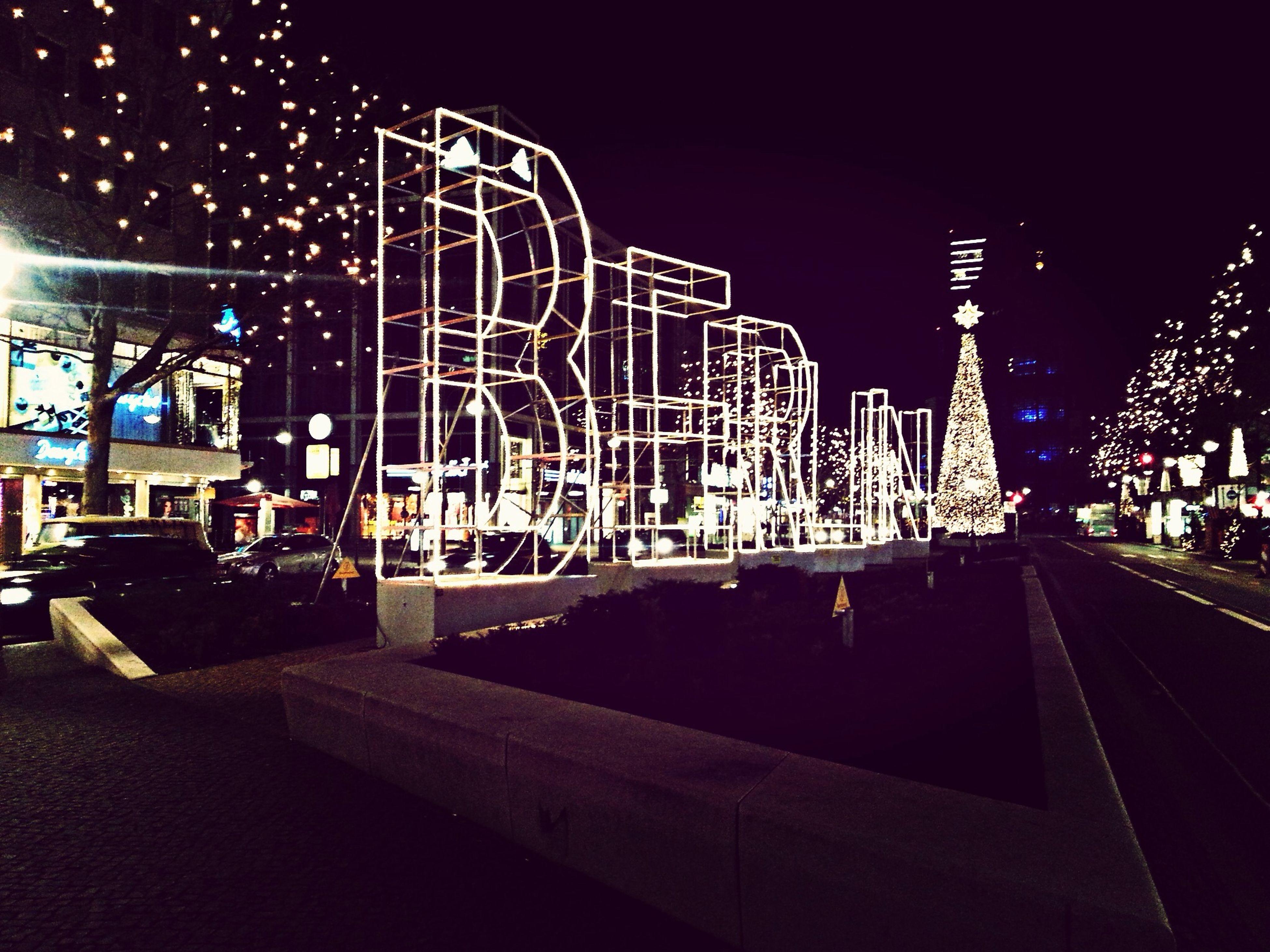 Street Photography Night Lights Christmas City