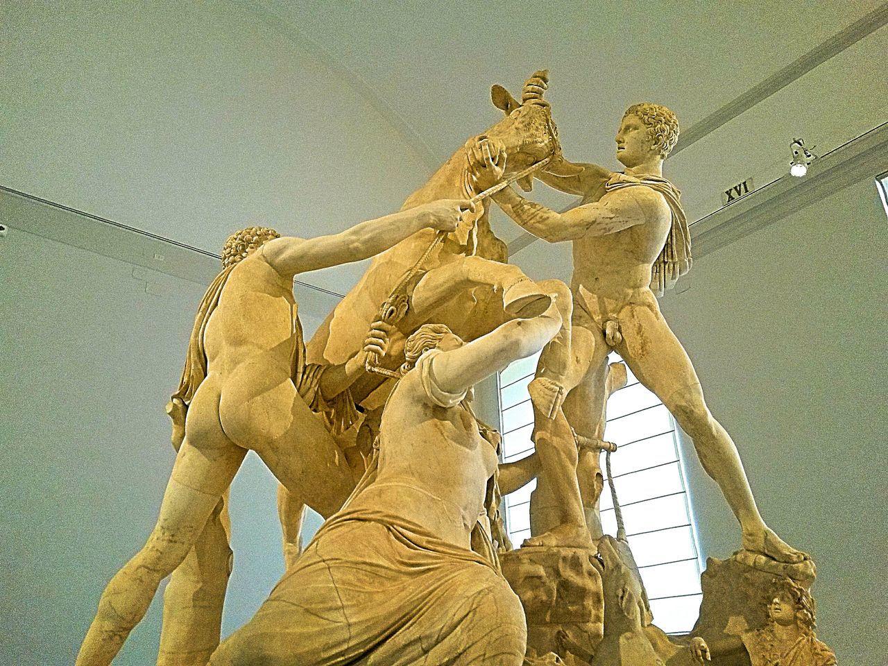 Tauromaquia Taurus Sculpture Statue No People Roman Art Adriano Museum
