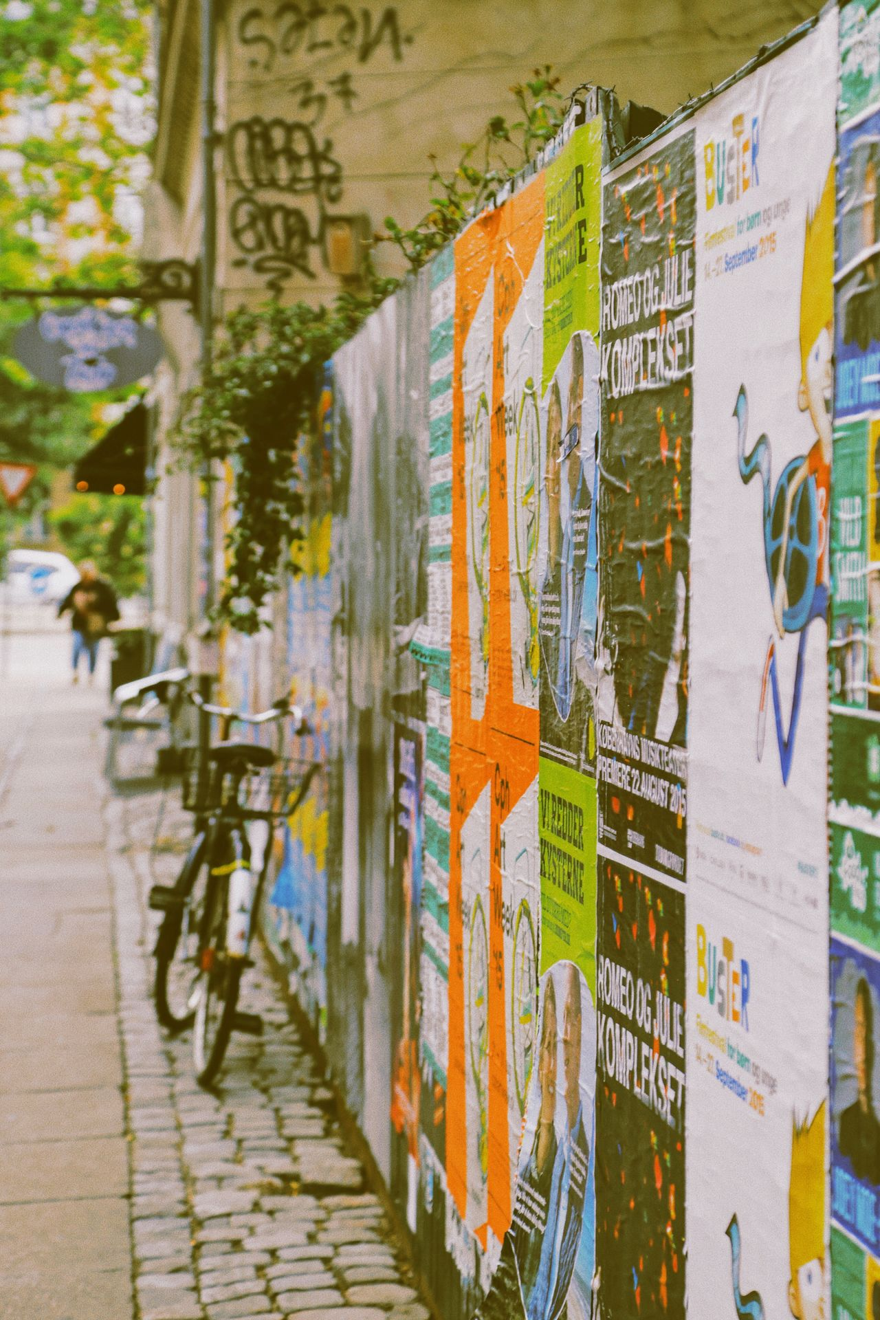 Multi Colored Business No People Outdoors Day Close-up City Street Rustic Beauty Rustic Charm Outdoor Photography Street Photography Fence Transportation Bicycle Parking City Life City View  Still Life Rustic Style Detail Wooden Post Wallpaper Wall Vintage Style Vintage Cityview