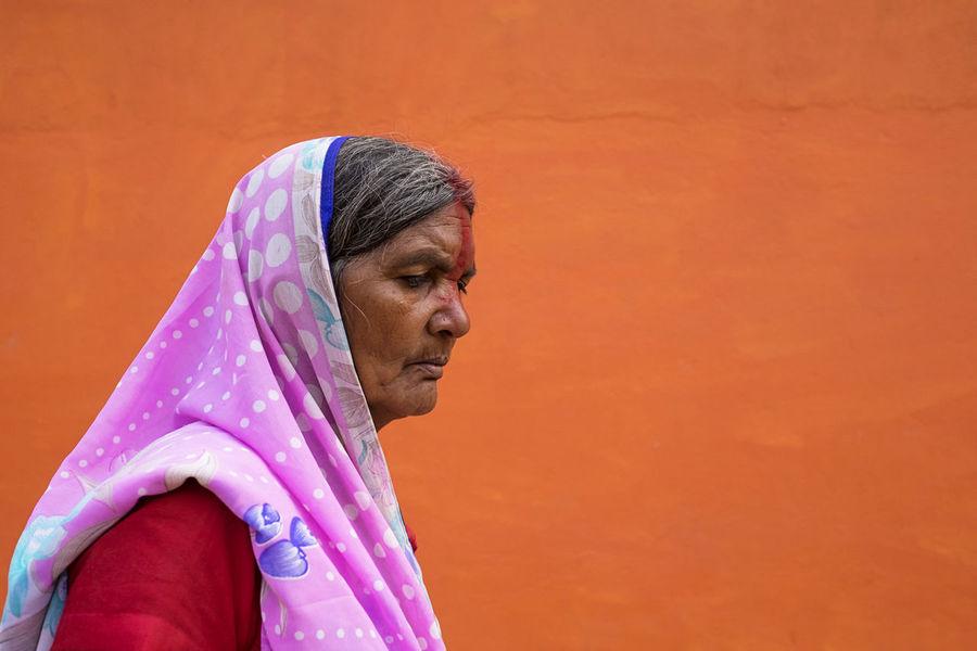 Simple shot of a woman with a pink headscarf. Taken at Sonepur Mela, Bihar Bihar Close-up Cultures Elderly Hajipur Headcover Headscarf Headshot India Old One Person Orange Color Pink Real People Sari Side View Sonepur Sonepurfestival Sonepurmela Traditional Clothing