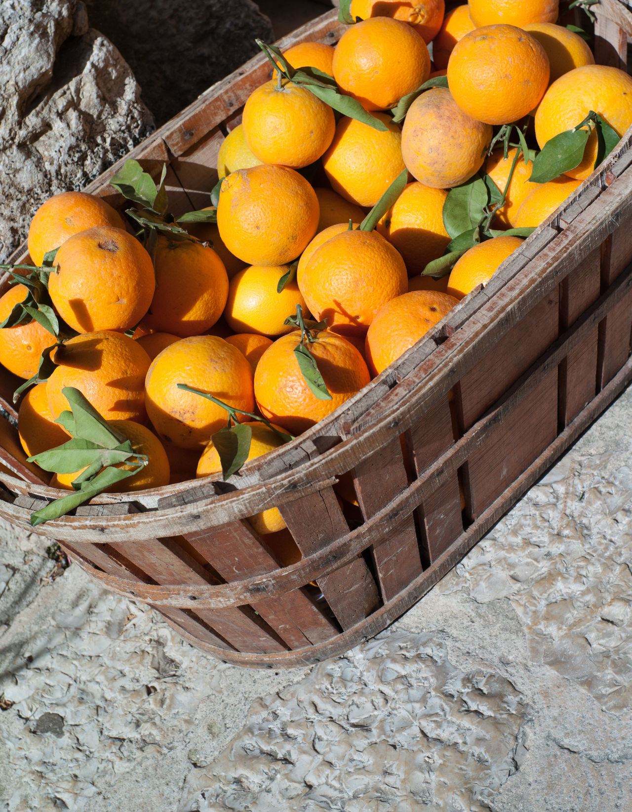 Basket full of ripe oranges Basket Citrus Fruit Food Freshness Fruit Healthy Eating Mediterranean  Orange - Fruit Orange Color Orange Season Oranges