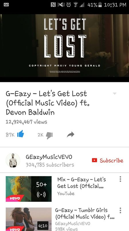 Relaxing Goodnight ♡ My Favorite Song Before Bedtime. Love♡ in loce w this song .LET GET LOST BY G-EAZY 😙❤🌻🌼🍑👌