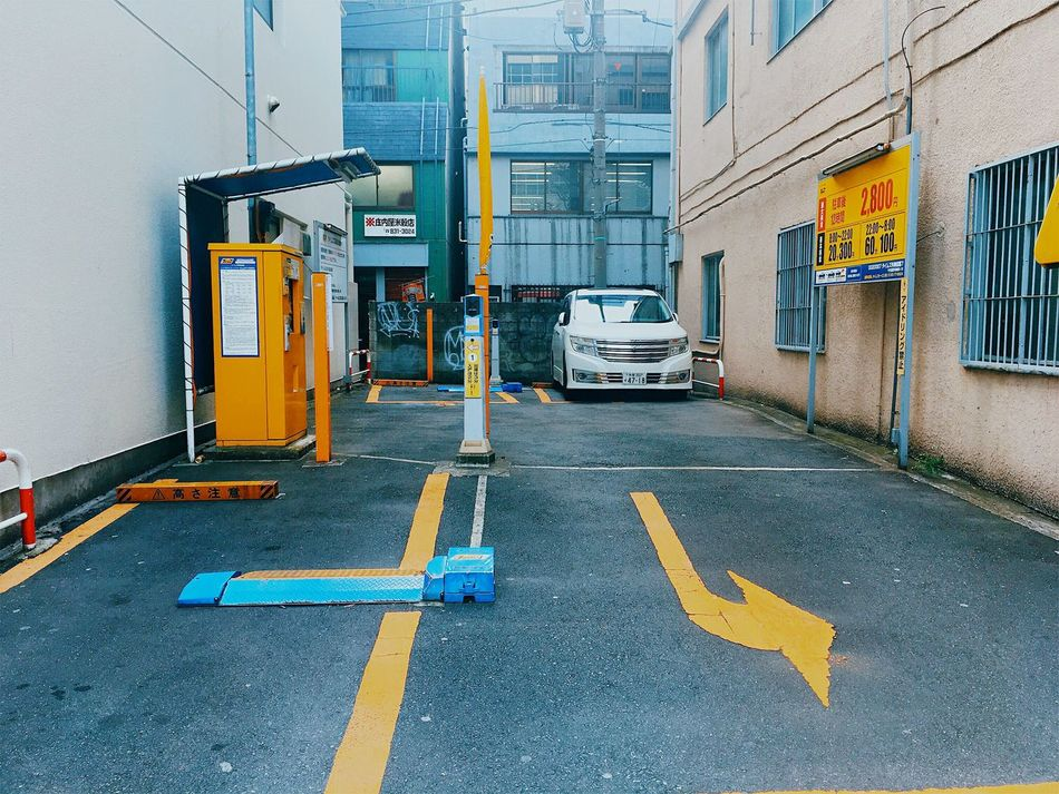 EyeEmNewHere Street City Transportation Architecture Asphalt Outdoors No People Tokyo, Japan Tokyo Japanese  Urbanphotography Color Palette Streetphoto_color Street Photography Streetphotography Japan Photography IPhoneography Iphone6s