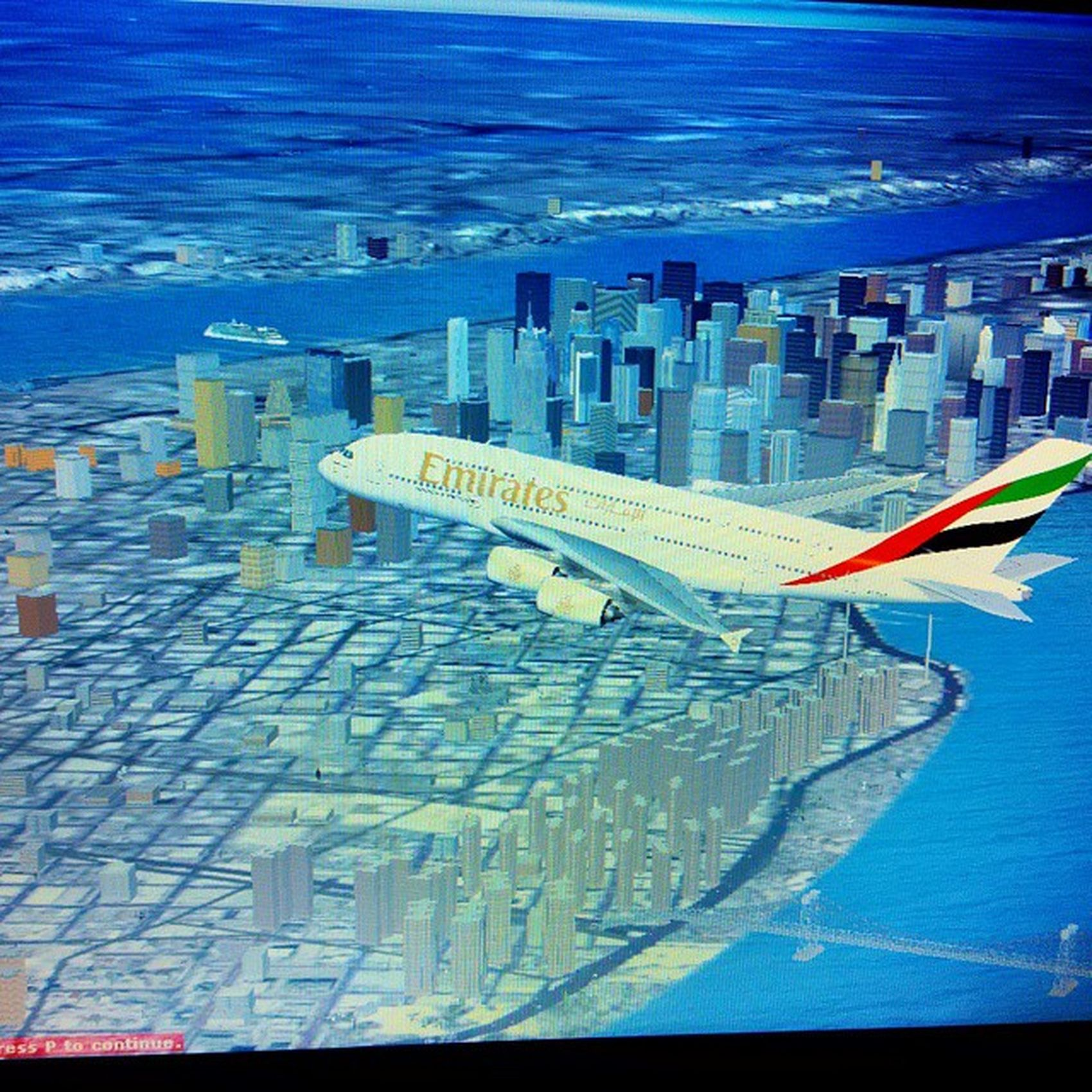 Flyemirates  over NYC Newyork ▶Mexico KJFK ➡MMMX Aircraft A380 Aviation Avgeek Avporn Spotview Beast Biggest Airliner Fsx Fsgeek