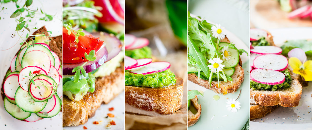 Bread Choice Close-up Day Food Food And Drink Freshness Healthy Eating Indoors  Indulgence No People Plate Ready-to-eat Sandwich Sandwich SLICE Variation Vegan