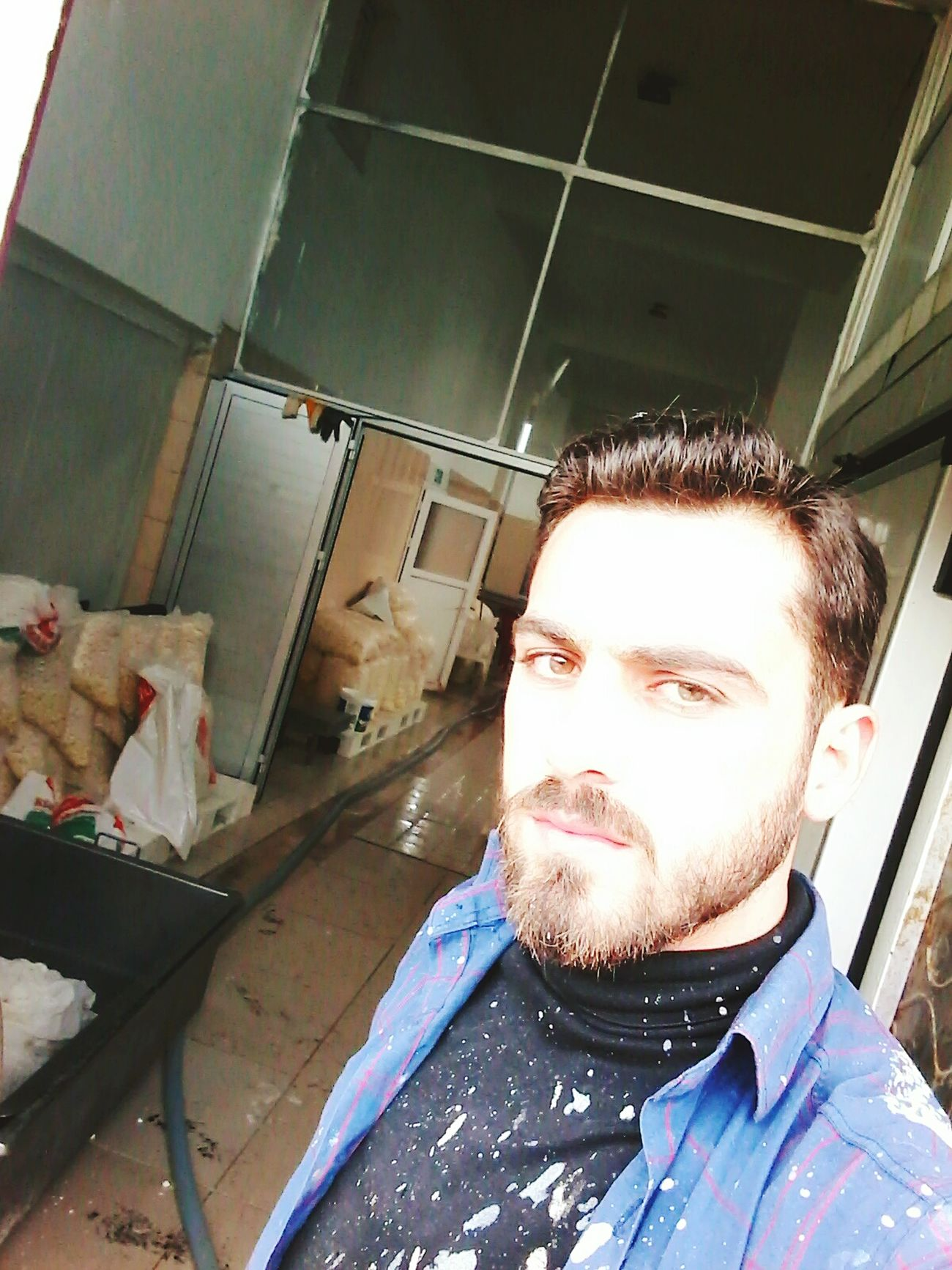 صورة شخصية تركيا_بعيون_عربيه تركيا_عشق_لا_ينتهي One Person One Man Only Beard Only Men Front View Headshot Adults Only Portrait People Adult Indoors  Protective Workwear Close-up Day Young Adult First Eyeem Photo