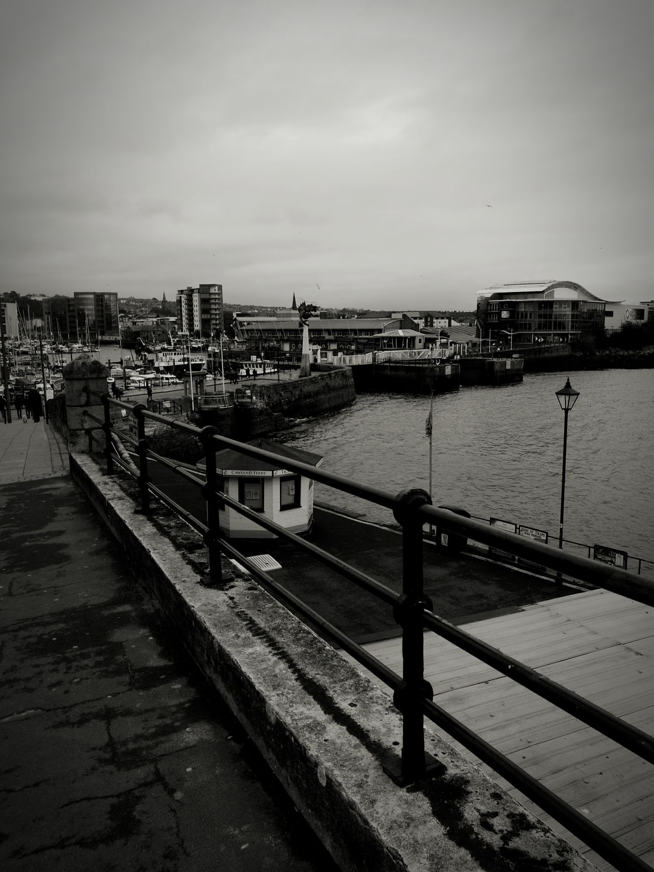 Beautiful winter in Plymouth No People Nature Water Outdoors Railing Scenics Boating Boats And Water Seaside Town