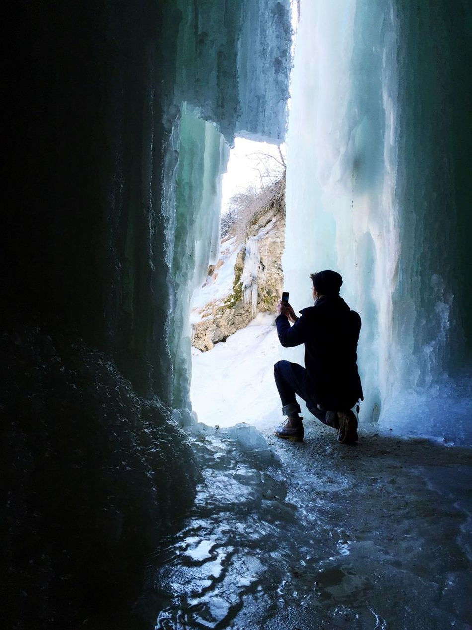 Beautiful stock photos of waterfall, Beauty In Nature, Cold Temperature, Day, Frozen
